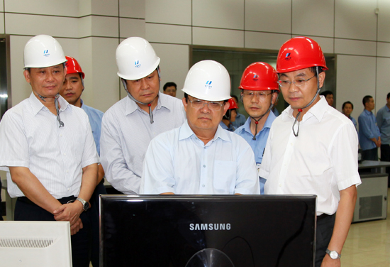 华电国际电力股份有限公司总经理陈建华到华电青岛发电有限公司调研